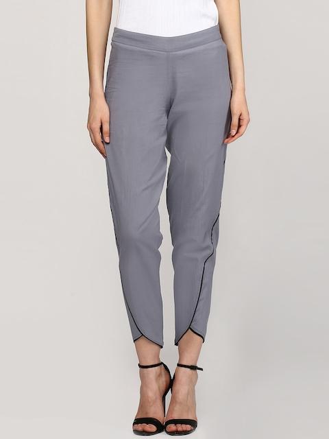 SASSAFRAS Women Grey Solid Jodhpuris