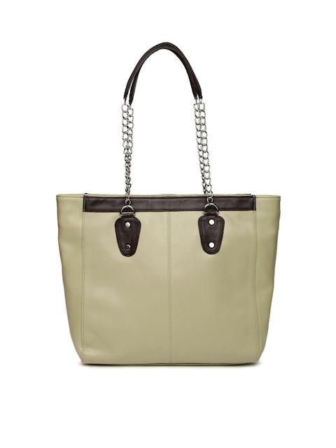 DressBerry Taupe Solid Shoulder Bag