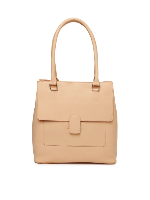 Mast & Harbour Peach-Coloured Solid Shoulder Bag