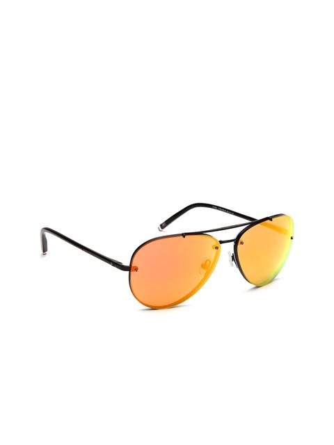 Tommy Hilfiger Men Mirrored Aviator Sunglasses 7884