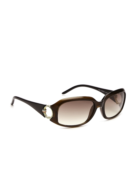 Tommy Hilfiger Women Rectangle Sunglasses 7898 Brn-34 C3 S