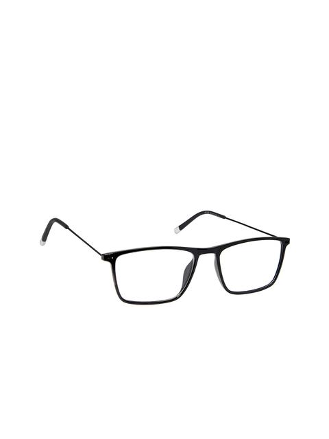 David Blake Unisex Black Rectangular Frames LCEWDB653BRJH1546