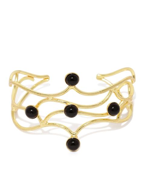Tipsyfly Gold-Toned & Black Vine Cuff Bracelet
