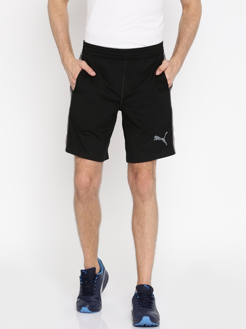 Puma Men Black Essential Dri-Release Solid Sports Shorts