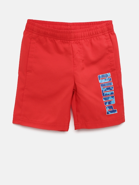 Puma Boys Red Hero Woven DryCell Sports Shorts  available at myntra for Rs.449