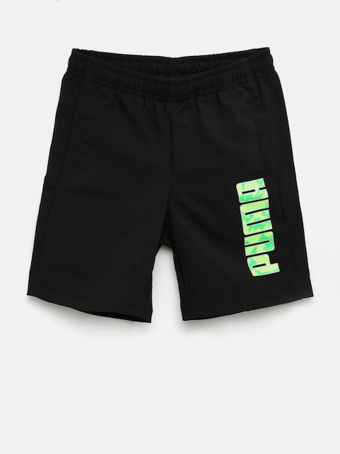 Puma Boys Black Hero Woven DryCell Sports Shorts  available at myntra for Rs.449