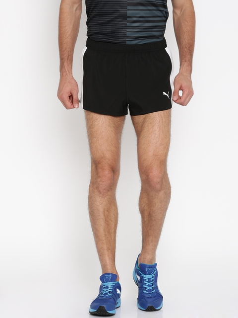 Puma Men Black Cross The Line Solid Sports Shorts