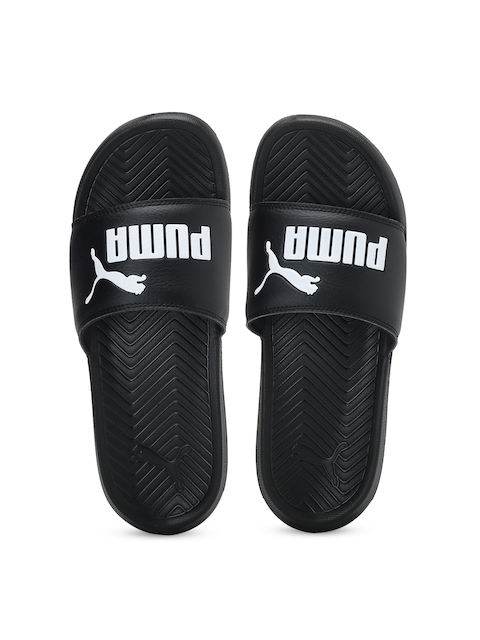 Puma Unisex Black Printed Popcat Flip-Flops