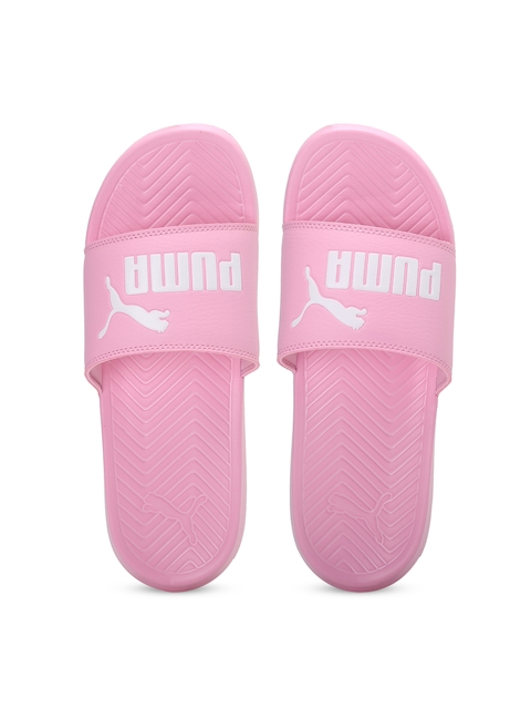Puma Unisex Pink Popcat Printed Flip-Flops