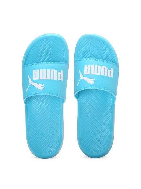 Puma Unisex Blue Printed Popcat Flip-Flops