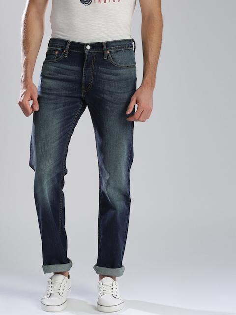 Levis Men Navy Slim Fit Low-Rise Clean Look Jeans