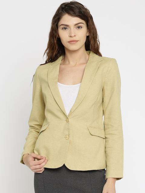Vero Moda Beige Single-Breasted Blazer