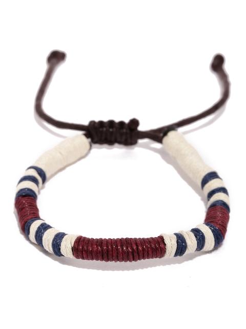 Tipsyfly Men White & Red Bracelet