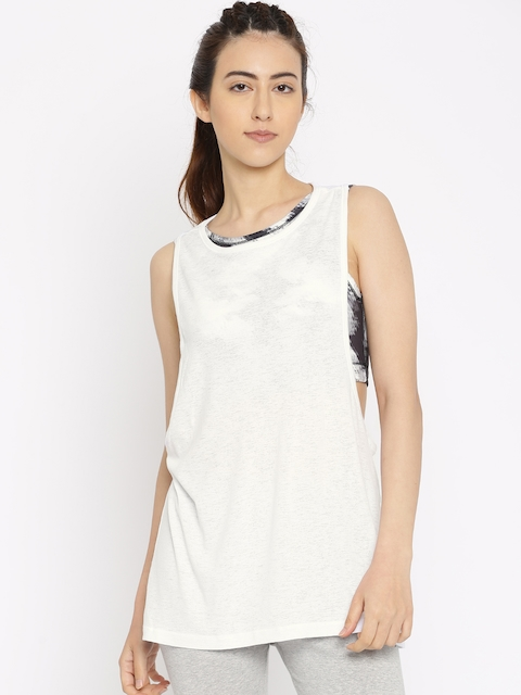 Puma Women White Layer Tank Top