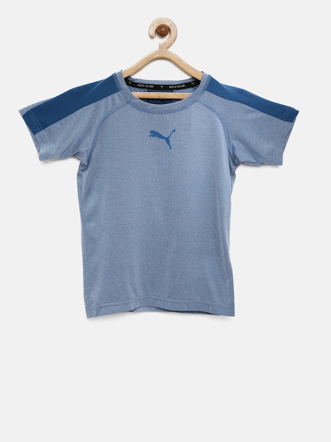 Puma Boys Blue Active Cell 2 Round Neck T-shirt  available at myntra for Rs.359
