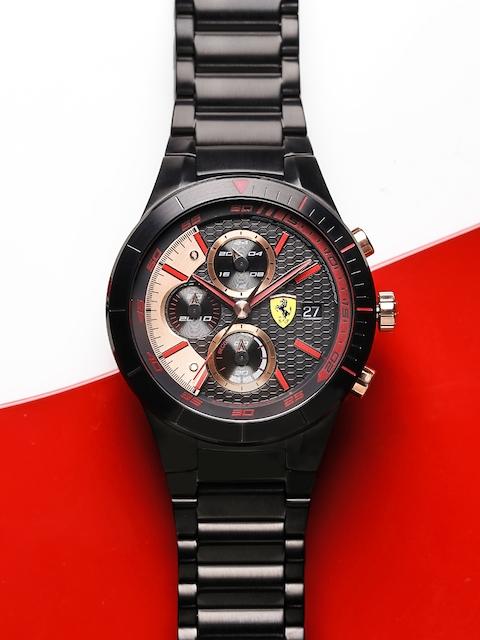SCUDERIA FERRARI Red Rev Evo Men Black Chronograph Watch 0830305_SF
