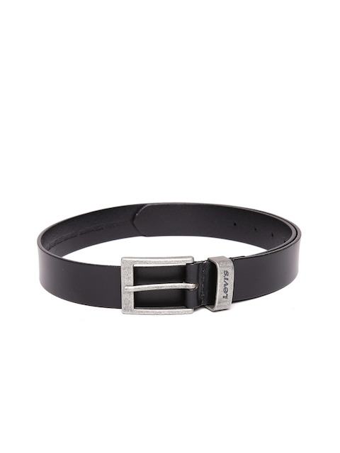 Levis Men Black Solid Genuine Leather Belt