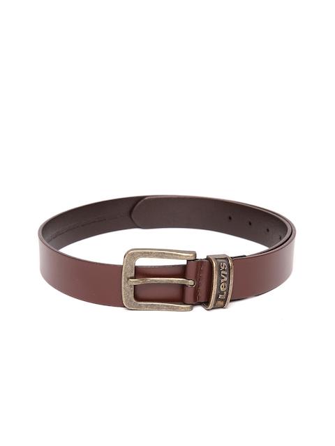 Levis Men Brown Solid Genuine Leather Belt