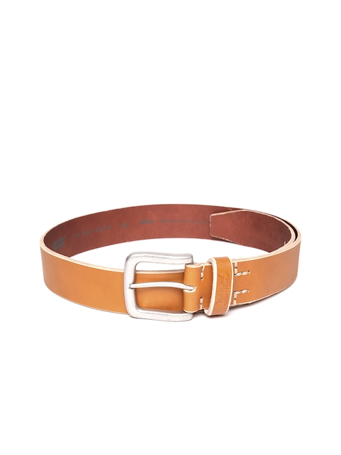 Levis Men Tan Brown Solid Full Grain Leather Belt