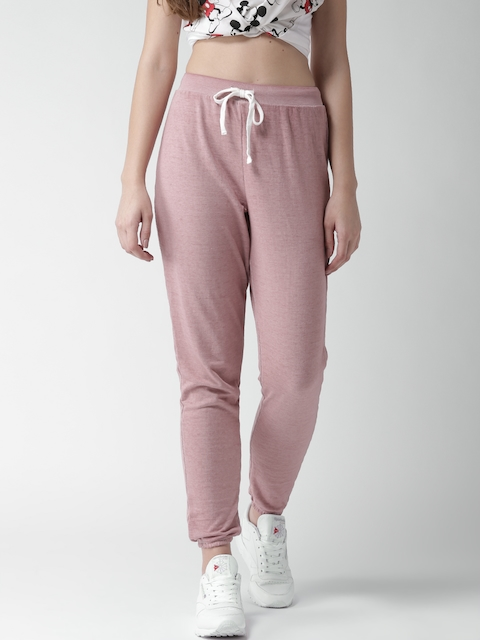 FOREVER 21 Women Pink Solid Joggers
