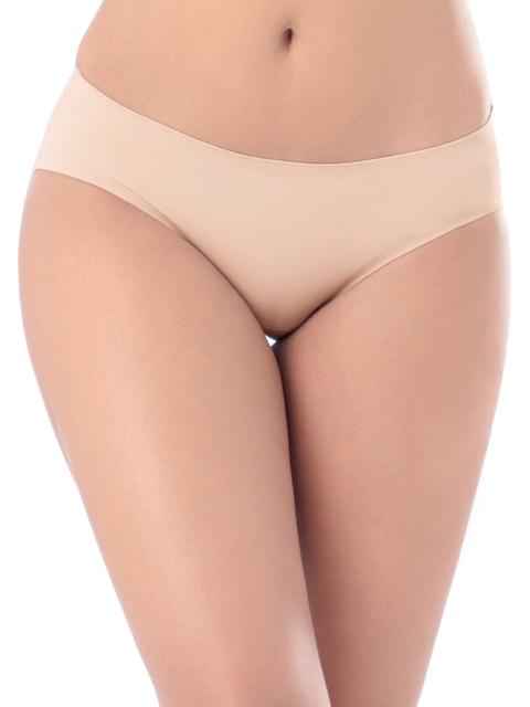 PrettySecrets Women Beige Seamless Bikini Briefs P0005
