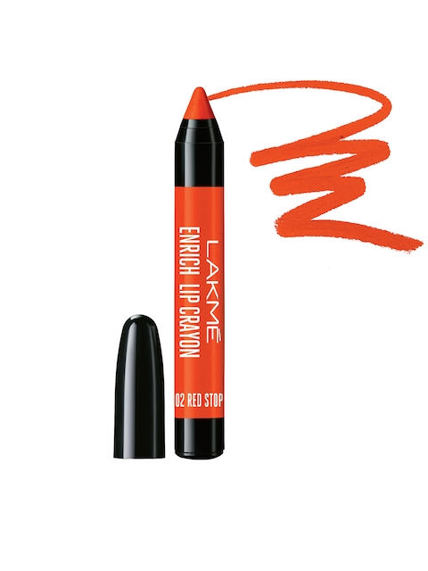 Lakme Red Stop Enrich Lip Crayon with Sharpener 02