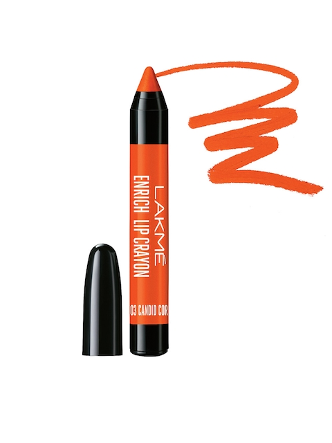 Lakme Candid Coral Enrich Lip Crayon with Sharpener 02