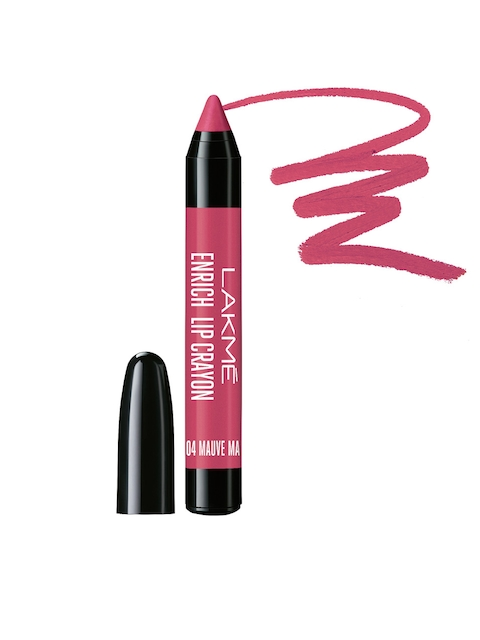Lakme Mauve Magic Enrich Lip Crayon 04 with Sharpener
