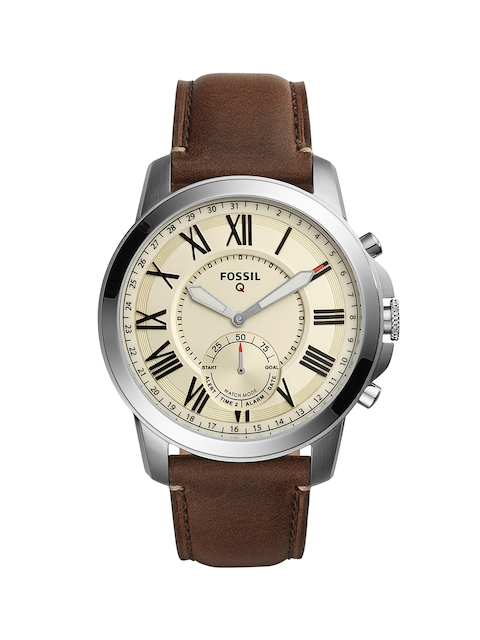 Fossil Men Cream Dial Chronograph Watch FTW1118