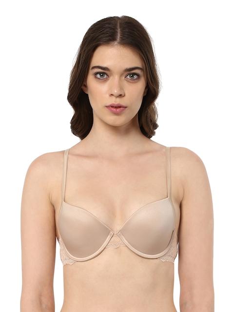 PrettySecrets Nude-Coloured Lace Medium-Coverage Push-Up Bra