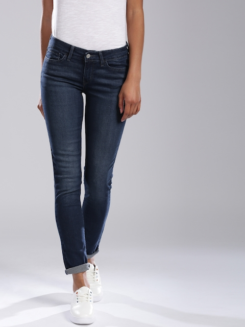 Levis 711 Women Blue Skinny Fit Stretchable Jeans