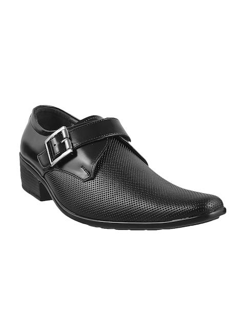 Mochi Men Black Leather Semiformal Slip-Ons