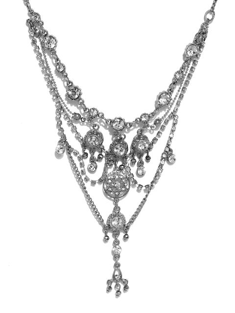 Accessorize Silver-Toned Embellished Helena Crystal Bracelet