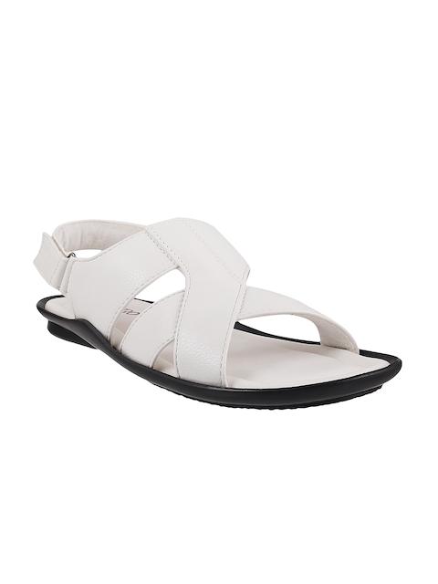 Metro Men White Leather Sandals