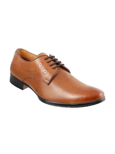 Metro Men Tan Brown Leather Formal Shoes