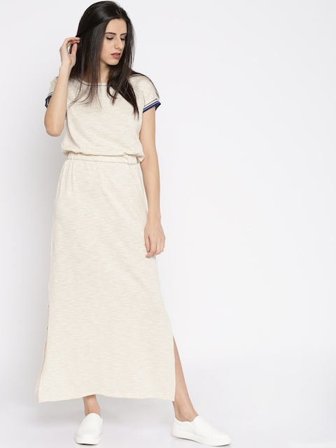 Vero Moda Beige Maxi Dress