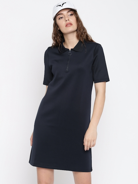 Vero Moda Navy Blue A-Line Dress