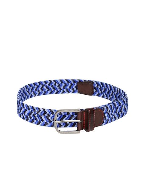 Flying Machine Men Blue Woven Design Belt