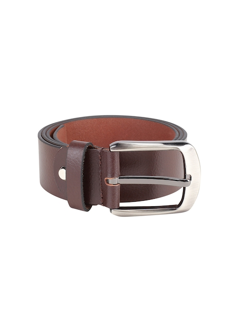 Kara Men Brown Solid Genuine Leather Belt