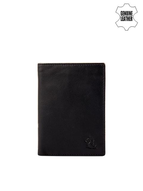 Kara Men Black Genuine Leather Card Holder