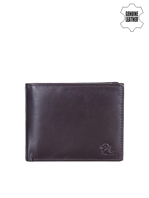 Kara Men Brown Solid Genuine Leather Two Fold Wallet