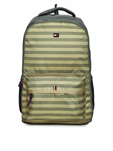 Tommy Hilfiger Unisex Khaki & Grey Striped BRISTOL PLUS17 Backpack