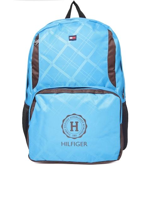 Tommy Hilfiger Unisex Blue Printed Backpack