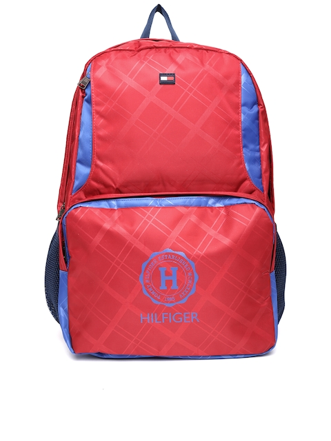 Tommy Hilfiger Unisex Red Printed Backpack