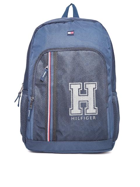 Tommy Hilfiger Unisex Navy Blue Textured Backpack
