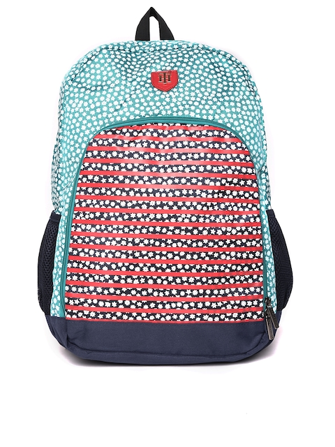 Tommy Hilfiger Unisex Green & Red Printed Backpack