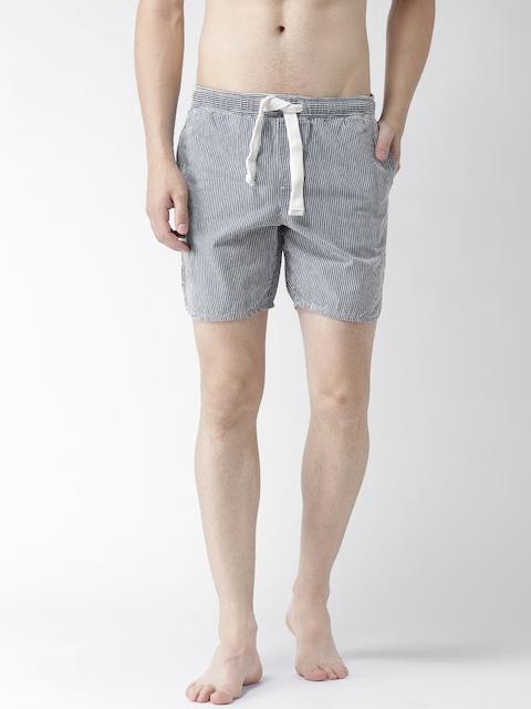 Tommy Hilfiger Blue Striped Slim Swim Shorts S7ATN106
