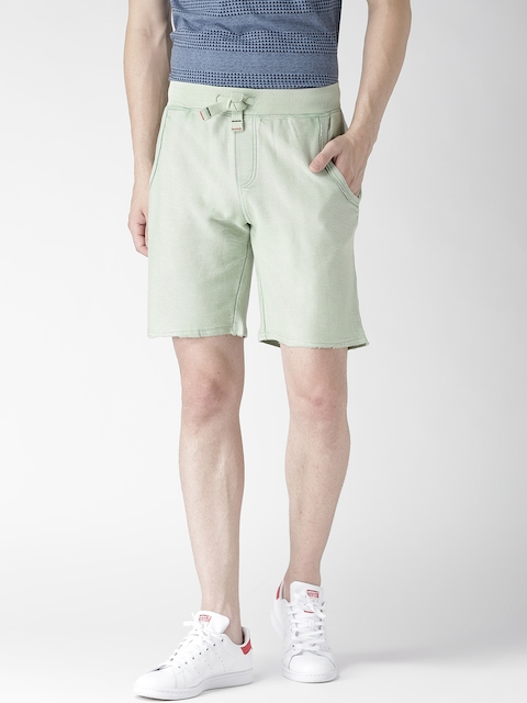 Tommy Hilfiger Men Green Solid Shorts