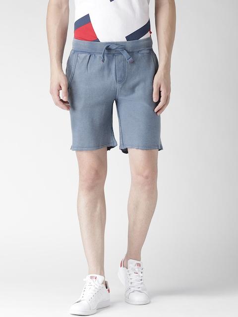 Tommy Hilfiger Men Blue Solid Shorts