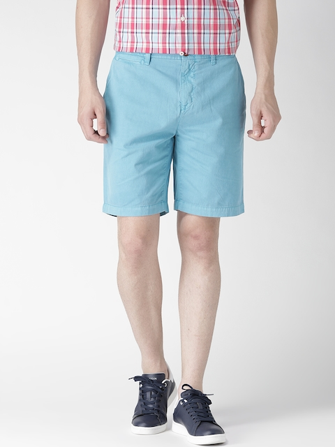 Tommy Hilfiger Men Blue Solid Shorts